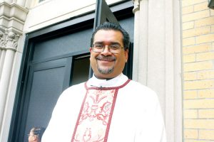 """""""[This] is a great way to call attention to the issue,"""" said Father Eric Cruz."""