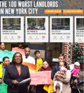Public Advocate Letitia James has named Fiesta as one of the worst landlords.