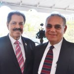 Congressman José Serrano (left) with Bronx Judge Armando Montano.