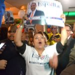 Espaillat supporters react to results.