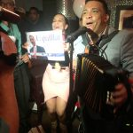 Live music at the Espaillat party.