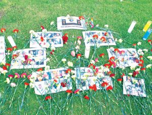 Un homenaje a las victimas.