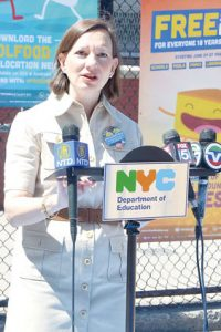 """""""You simply come to a site and collect a meal,"""" said DOE Deputy Chancellor Elizabeth Rose."""