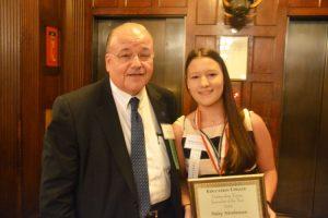 Senior Vice Chancellor Jay Hershenson, with honoree Haley Hershenson.