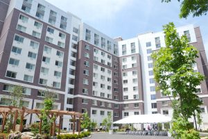 The neighboring buildings provide housing to 179 seniors.