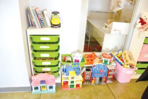 Toys are available for when clients visit with children.