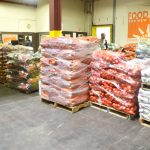 The facility distributed 76 million pounds of food in 2015.