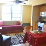 Many of the apartments come with furnished interiors.
