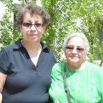 """""""This is the best thing that ever happened to me,"""" said resident Rosa (left), with neighbor Ana."""
