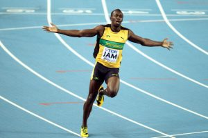 Usain Bolt will offer Gatlin strong competition.