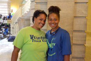 """I never thought I'd be able to meet him,"" said Jaelah Eargle with mom Alisha."