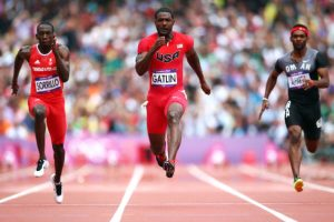 Gatlin is setting his goals on a second lifetime gold medal.