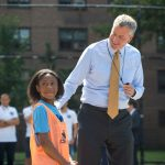 "Mayor Bill de Blasio referred to soccer as a ""great unifying force."""