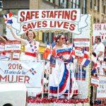 La Asociación de Enfermeras del Estado de Nueva York va tradicional.