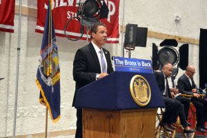 """""""We will show the world that the Bronx is back,"""" said Governor Andrew Cuomo."""