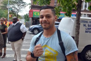 """""""I took the baby in my arms,"""" said NYCHA worker Ivan Maestre."""