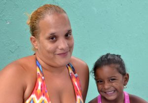 """The food is good,"" said Melody, with her mother Milagros."