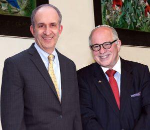 Dr. Alan Kadish and Dean Steven Huberman.