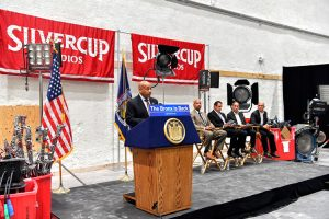 """""""It's about having real jobs that people can raise their families on,"""" said Assembly Speaker Carl Heastie."""