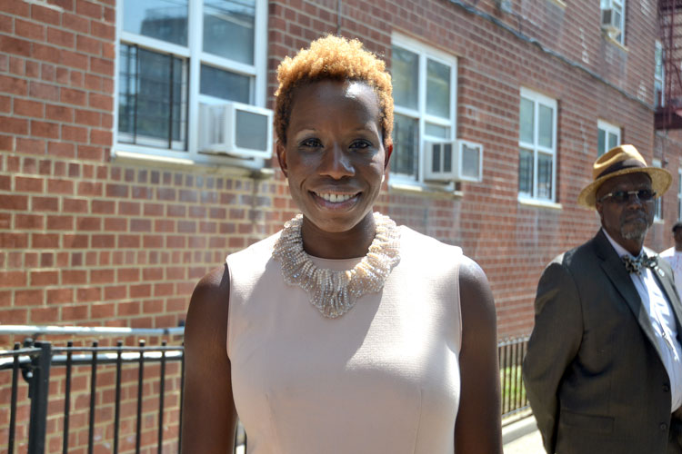 NYCHA Chair and Chief Executive Officer Shola Olatoye.