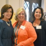 From left to right: Hochul with Assemblymember Rebecca Seawright and Marcia Sudolsky.