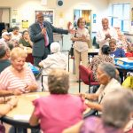 The center draws between 40 and 50 seniors daily.