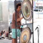 Sounding the gong.