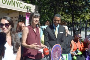 """It's an interactive experience,"" said Cheryl Huber, Assistant Director of GrowNYC Greenmarket."