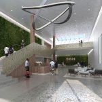 A rendering of the lobby view.