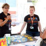 Volunteers quizzed festivalgoers.