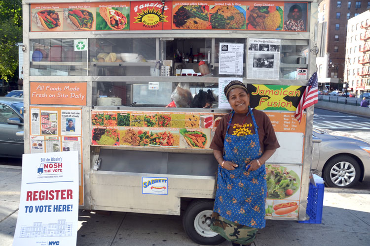 """I think it's a great idea by the city,"" said street food vendor Fauzia Abdur-Rahman."