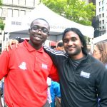"""""""This program is unlike any other,"""" said Zion Smith (left) with Program Leader Veeshan Narinesingh."""