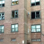 The fire occurred in an apartment on the third floor of the Butler Houses.
