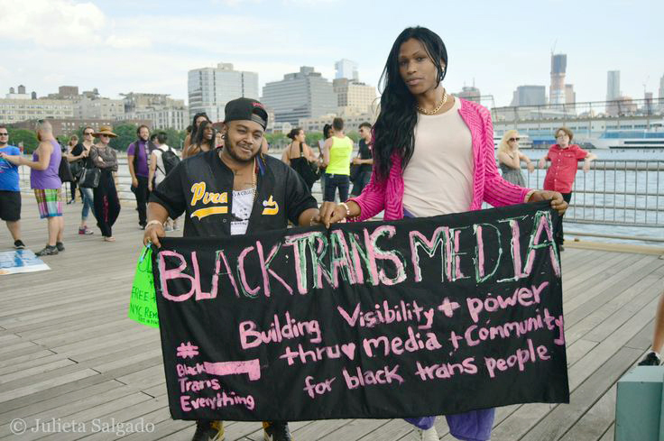 Pérez (right) is the Content Director of Black Trans Media.