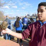 Deivis Amador shows off his shells.