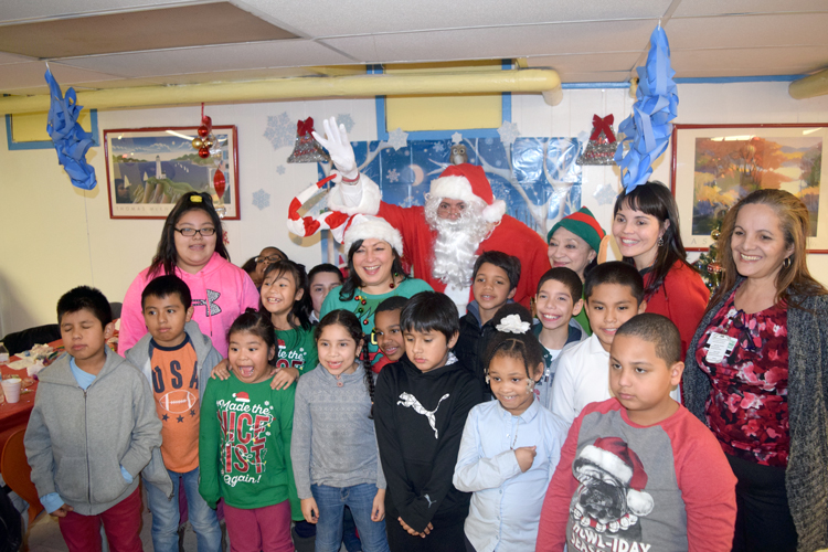 The holiday party was hosted at Union Community Health Center.
