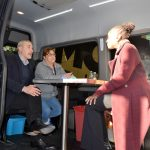 McCray toured the mobile outreach van.