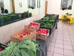 A Community-Supported Agriculture program distributes fresh produce.