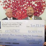 City Councilmember Rafael Salamanca, Jr. helped support ArchCare's senior housing with a $1.3 million dollar grant in June.