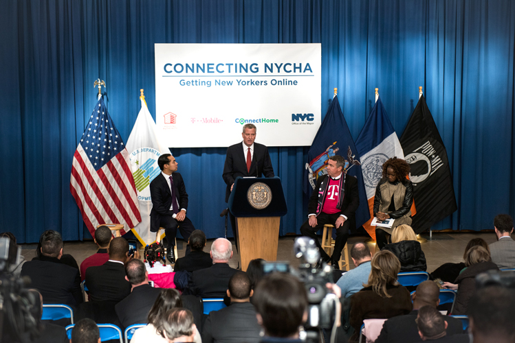 The announcement was made at the BronxWorks Betances Community Center.