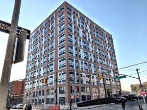 The 176-unit residential building is on Morris Avenue.