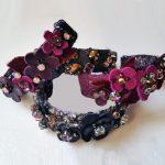 A hand-embroidered bracelet from Weng Meng Design Studio.