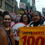 Members of UniteHere Local 100 in the march. Photo: UniteHere