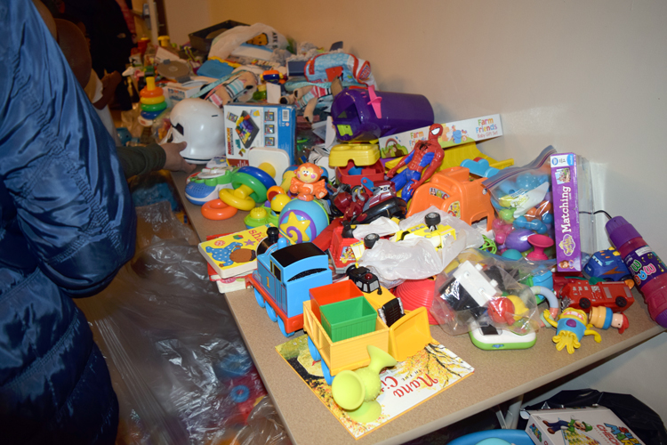 More than 300 toys were provided.