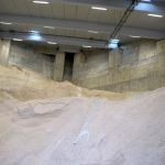 The massive shed holds over 4,000 tons of salt.