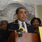"""Dissent is patriotic,"" said Congressman Adriano Espaillat."