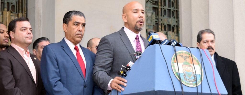 Elected officials denounced recent executive actions.