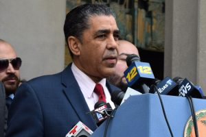 """""""These executive orders will not make secure communities,"""" said Congressman Adriano Espaillat."""