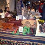 The marketplace featured artistic and cultural items.