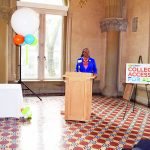 """""""You can follow your dreams and go onto college,"""" said DOE Superintendent LaShawn Robinson."""